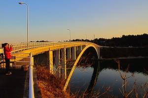 鹿賀が渡る橋@HINASE