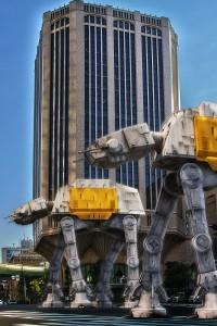 大同生命大阪本社ビルにあらわれたAT-AT Walker@FESTIVAL TOWER WEST