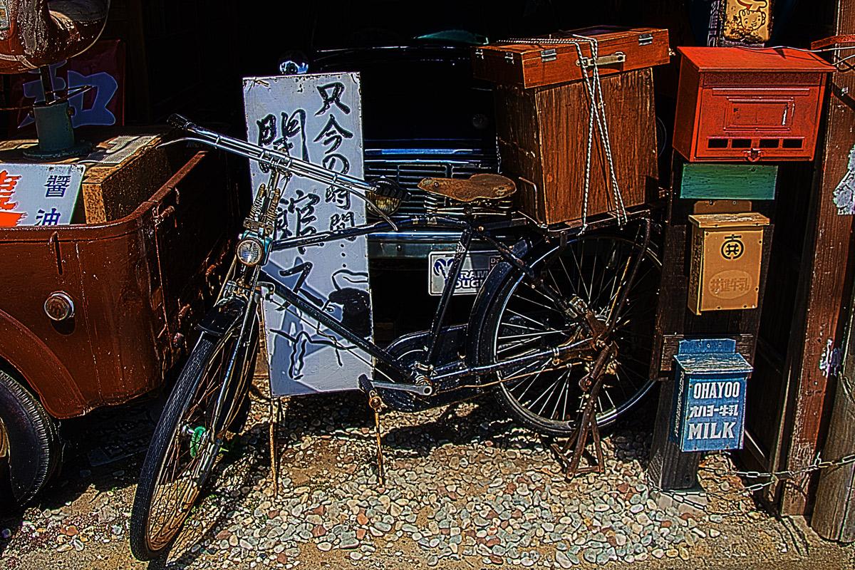 紙芝居屋 自転車