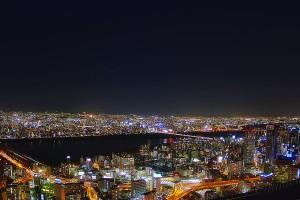 阪神高速3号と淀川大橋@空中庭園