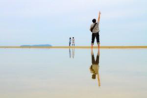 ウユニ塩湖に似せるにはどうする・・・@父母ヶ浜