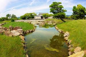 本丸庭園と本丸櫓門@赤穂城跡