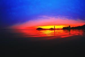 一瞬の夕焼け@父母ヶ浜