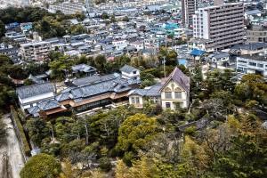 福山城からの眺め@福山城公園