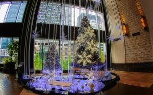 伝統的なツリーとブライトクリスマスツリー@BRIGHT CHRISTMAS