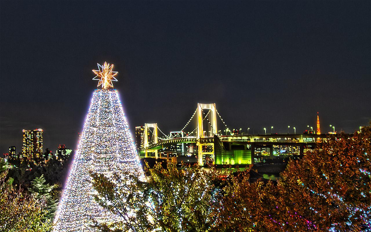 お台場のクリスマスツリー