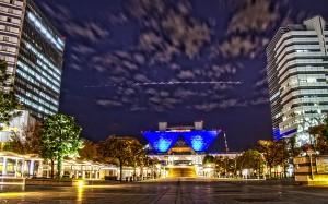 りんかい線国際展示場駅方面からみた東京ビッグサイト@TOKYO BIG SIGHT