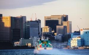 竹芝客船ターミナルへ向かう高速ジェット船@東京湾クルーズ